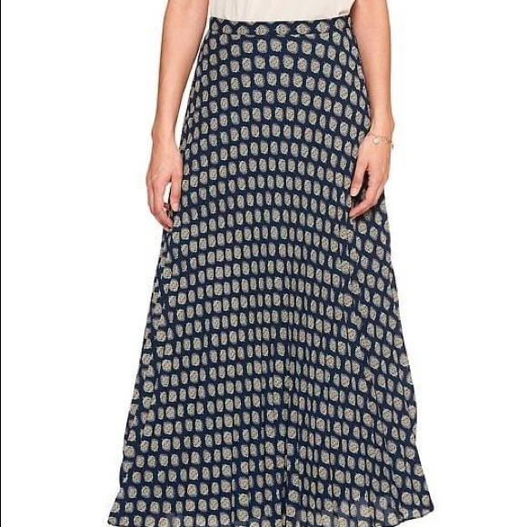 Banana Republic Dresses & Skirts - Banana Republic Blue Accordion Maxi Skirt